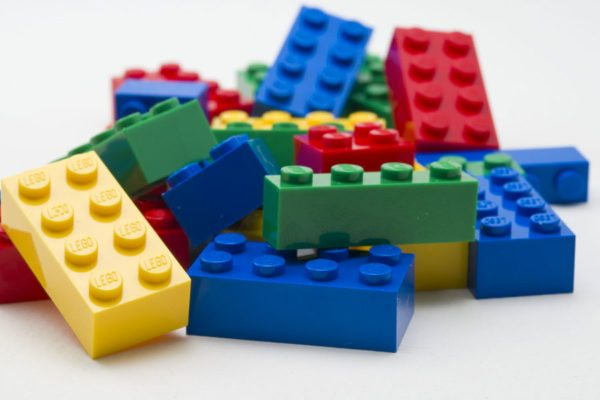 Lego bricks multi coloured